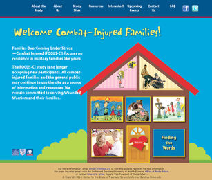 <p>Combat-Injured Families website.</p>
